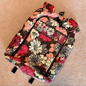 Vera Bradley Mocha Rouge Floral Laptop Backpack